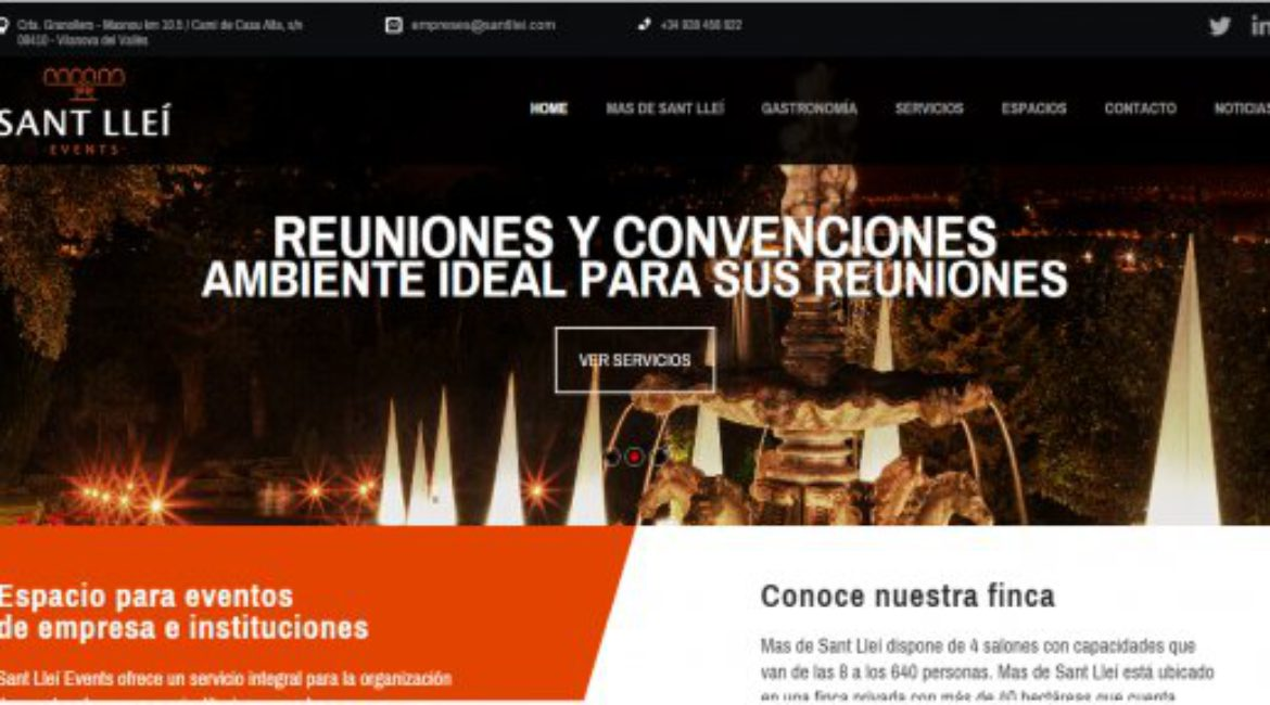 Mas de Sant Lleí has launched a new website dedicated to corporate and institutional events